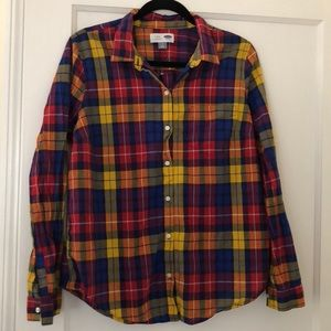 🆕❗️NWOT Old Navy classic plaid button down shirt